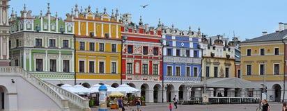 Zamosc, Polen: Hoofdmarkt van Zamosc Stock Foto