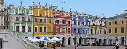 Zamosc, Pologne : Marché principal de Zamosc Photo stock