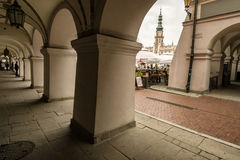 Zamosc - Renaissance city in Central Europe. Stock Images