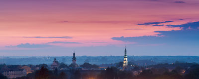 Zamosc after sunset Royalty Free Stock Photos