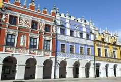 Zamosc Town Armenian Houses royalty free stock photography