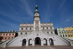 Zamosc - town hall Royalty Free Stock Photos