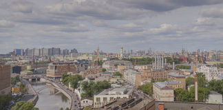 Zamoskvorechye District in Moscow  panoramic view Royalty Free Stock Image