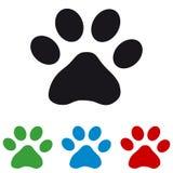 Zampa dei gatti - icone Colourful di vettore illustrazione vettoriale