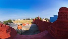 Zampa Gateway to Diu. Stone wall and Zampa Gateway to Diu. Daman and Diu, India Royalty Free Stock Photos