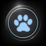Zampa - logo di semitono Fotografia Stock Libera da Diritti
