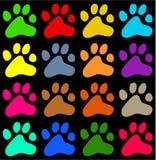 Zampe Colourful royalty illustrazione gratis