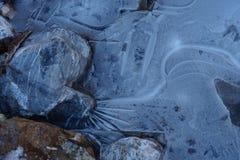 Zamraża i skała abstrakta światła tło z pęknięciami Obrazy Royalty Free