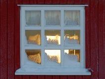 zamrożony przez okno Zdjęcia Stock