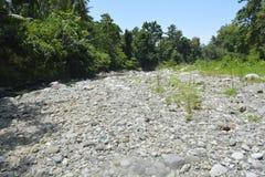 Zamulona porcja Ruparan rzeka przy barangay Ruparan, Digos miasto, Davao Del Sura, Filipiny fotografia royalty free