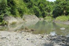 Zamulona porcja Ruparan rzeka przy barangay Ruparan, Digos miasto, Davao Del Sura, Filipiny fotografia stock