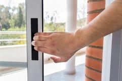 Zamykać balkonowego drzwi obrazy royalty free