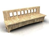 Zamyka ławka na drewnianej ławce Fotografia Stock