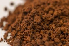 Zamyka do brown natychmiastowej kawy zdjęcia stock