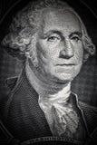 Zamyka do George Washington portreta na jeden dolarowym rachunku stonowany Obrazy Royalty Free