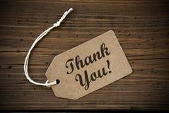 Zamyka etykietka Z tekstem Up Dziękuje Ciebie Obrazy Stock