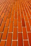 Zamyka nieskończoność ściana z cegieł ending w nieskończoności Obrazy Stock