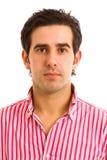 Zamyka portret mężczyzna młody przypadkowy portret Zdjęcie Stock