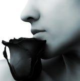 zamyka różanej kobiety Obraz Royalty Free