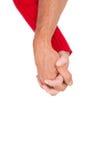 Zamyka ręka mienie ręki Fotografia Royalty Free