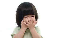 Zamyka up śliczny azjatykci dziecko płacz Obraz Stock