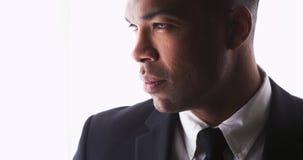 Zamyka up atrakcyjny czarny biznesmen Obrazy Stock