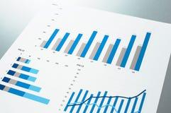 Zamyka up błękitne mapy Biznesowy dokument Zdjęcia Stock