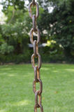 Zamyka up bardzo stary ośniedziały metalu łańcuch Obraz Royalty Free