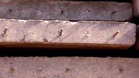 Zamyka up betonowe płyty z wzmacnieniem zbiory wideo