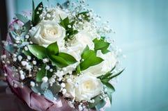 zamyka up biały bridal bukiet Obrazy Royalty Free