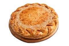 Zamyka up Bożenarodzeniowy mince pie odizolowywający na białym tle Zdjęcia Royalty Free