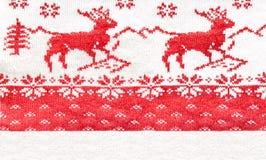 Zamyka up Bożenarodzeniowy puloweru projekt Tradycyjny scandinavian p fotografia stock
