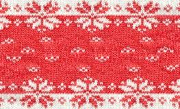 Zamyka up Bożenarodzeniowy puloweru projekt Tradycyjny zima wzór obraz royalty free