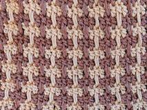 Zamyka up brown szydełkowanie torebka Obraz Stock
