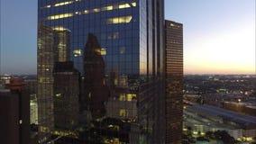ZAMYKA UP budynki W W CENTRUM HOUSTON TEKSAS zdjęcie wideo