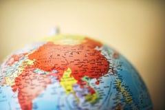 Zamyka up Chiny na kuli ziemskiej Fotografia Royalty Free