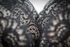 Zamyka up czarny, elegancki stanik, Fotografia Royalty Free
