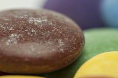 Zamyka up czekoladowi cukierki Zdjęcia Royalty Free