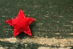 Zamyka up czerwieni gwiazdy kształta dekoracja Obraz Stock