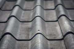Zamyka up dachowe płytki w czarny i biały wizerunku Obraz Royalty Free