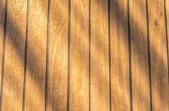 Zamyka up drewniana pokład łódź Obrazy Royalty Free