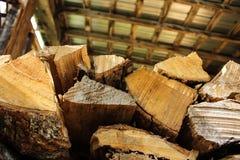 Zamyka Up Drewniany stos Obraz Royalty Free