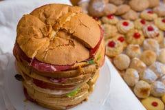 Zamyka up duża kanapka Zdjęcia Royalty Free
