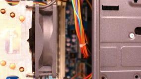 Zamyka up elektroniczna deska z składnikami zbiory wideo