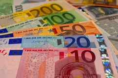 Zamyka up euro Zdjęcie Royalty Free