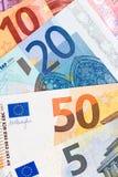 Zamyka up euro waluta Zdjęcia Stock