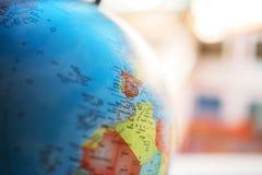 Zamyka up Europa i Afryka na kuli ziemskiej Obrazy Royalty Free
