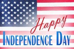 Zamyka up flaga amerykańska na dniu niepodległości obrazy stock