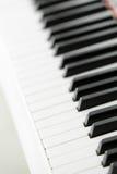 Zamyka up fortepianowa klawiatura Zdjęcie Royalty Free