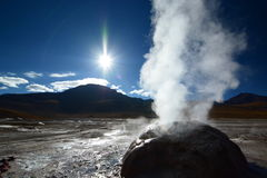 Zamyka up gejzer El Tatio Antofagasta region Chile Obraz Royalty Free